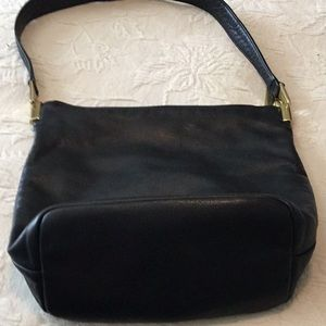 Leather bucket purse.